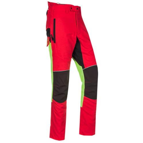 Schnittschutzhose rot-leuchtgelb-schwarz G.: XS