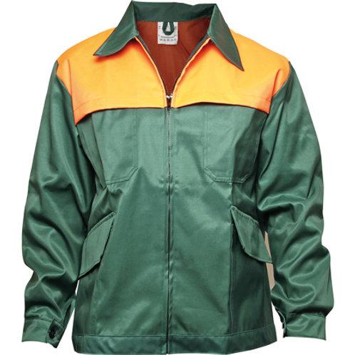Waldarbeiterjacke M = 50/52 -grün/leuchtorange