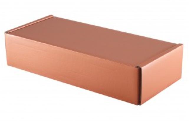 Geschenk Karton für 2 Flaschen (Kupferoptik)