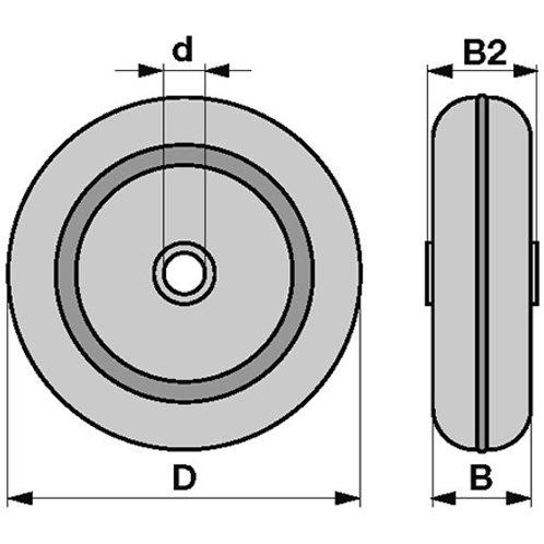 Stahlblechrad 270x76x30 mm