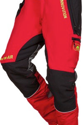 Schnittschutzhose Herren-rot-schwarz G.: L