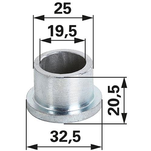 Oberlenkerbuchse 19/25 mm mit Ansatz