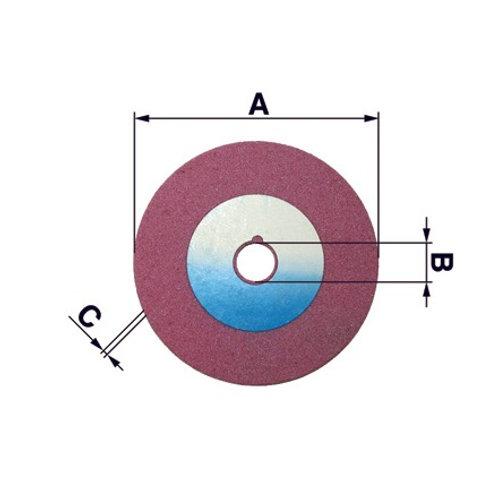 Schleifscheibe D: 105mm, B.: 22mm, S: 6mm, mit Tiefenbegr.