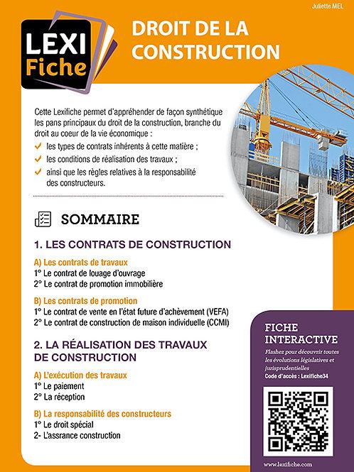 Lexifiches - Droit de la construction