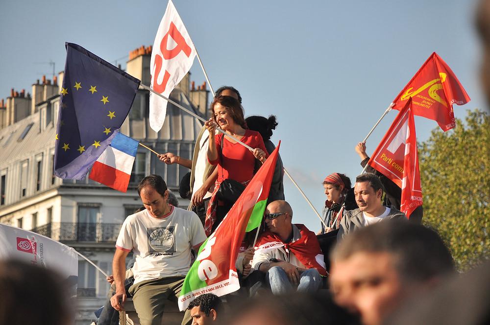 Le défilé du 1er mai (ici à Paris, en 2012) a lieu chaque année. (crédit photo : Blandine Le Cain - CC BY 2.0)