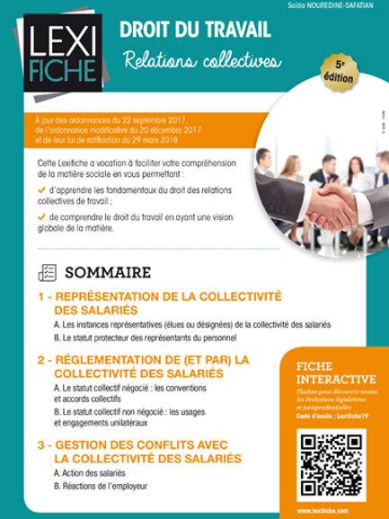 Lexifiche  - Droit du travail : Relations collectives
