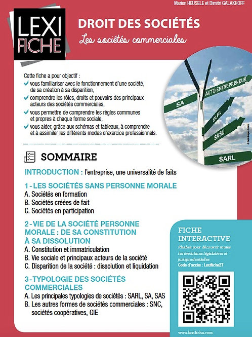 Lexifiche  -  Droit des Sociétés