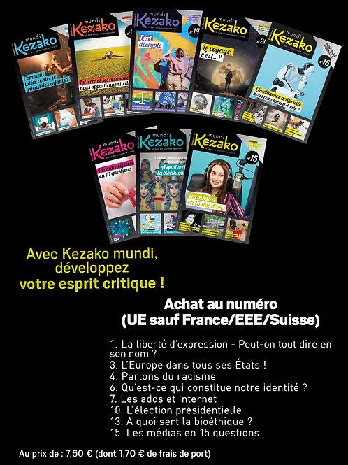 Achat anciens numéros (UE/Suisse sauf France)