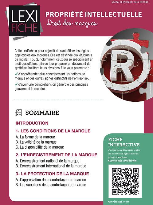 Lexifiche Propriété intellectuelle - Droit des marques