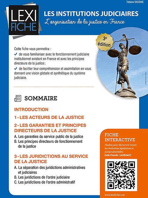 Lexifiche Institutions judiciaires - L'organisation de la justice en France