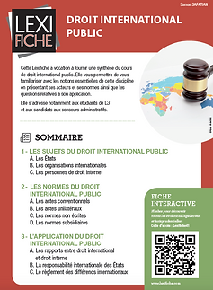 Couverture Lexifiche Droit international