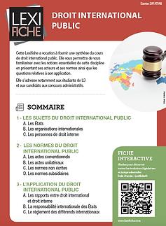 Couverture Lexifiche Droit international