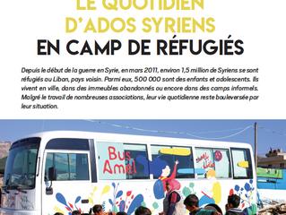 Reportage : La vie d'ados syriens en camp de réfugiés