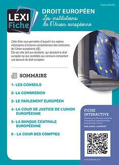 Couverture Lexifiche Institutions européennes