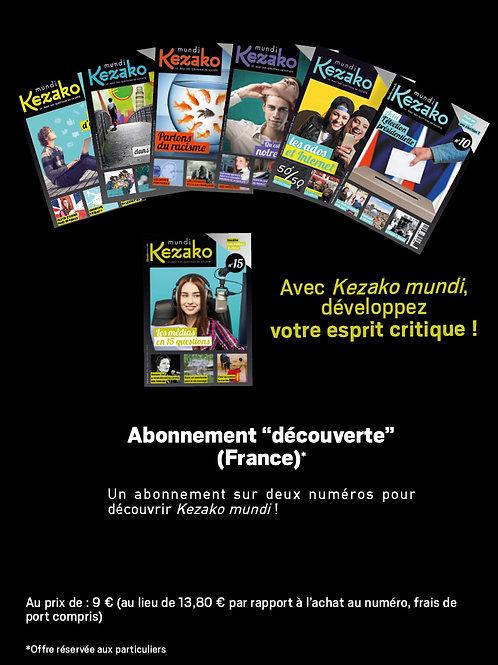 """Abonnement """"découverte"""" (France métropolitaine)"""