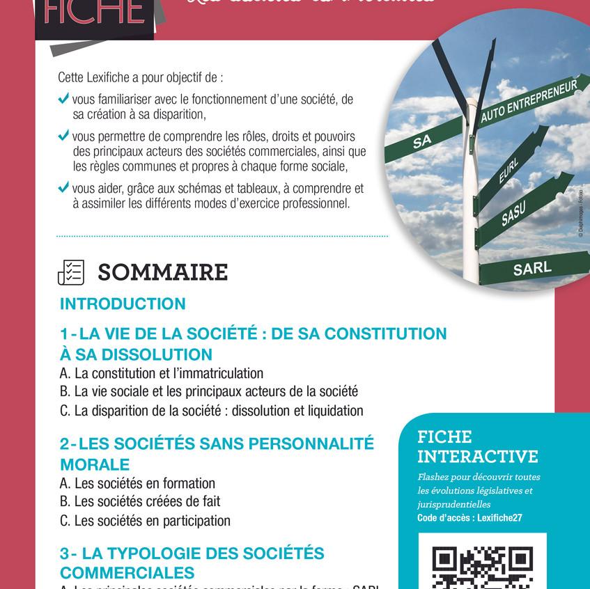Couverture Lexifiche Sociétés commercial