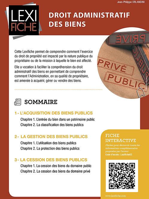 Lexifiches - Droit Administratif des biens