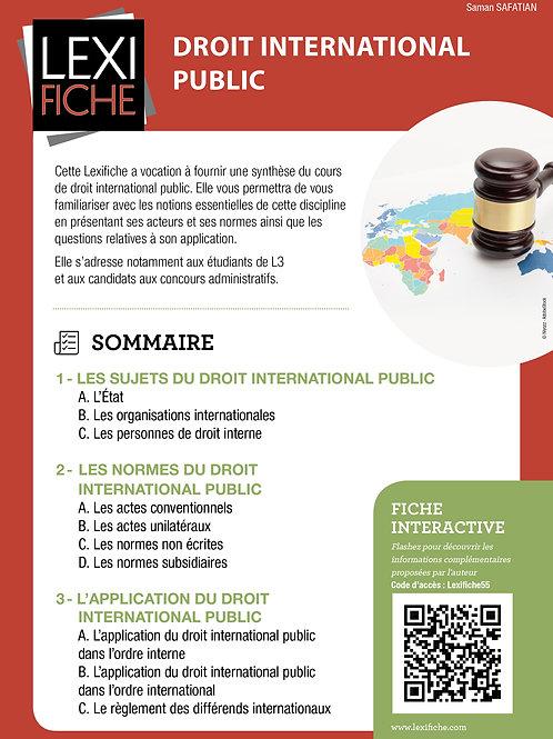 Lexifiche Droit international public