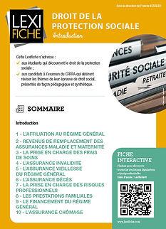 Couverture Lexifiche Protection sociale