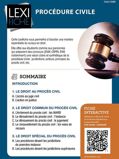 Lexifiche  -  Procédure civile