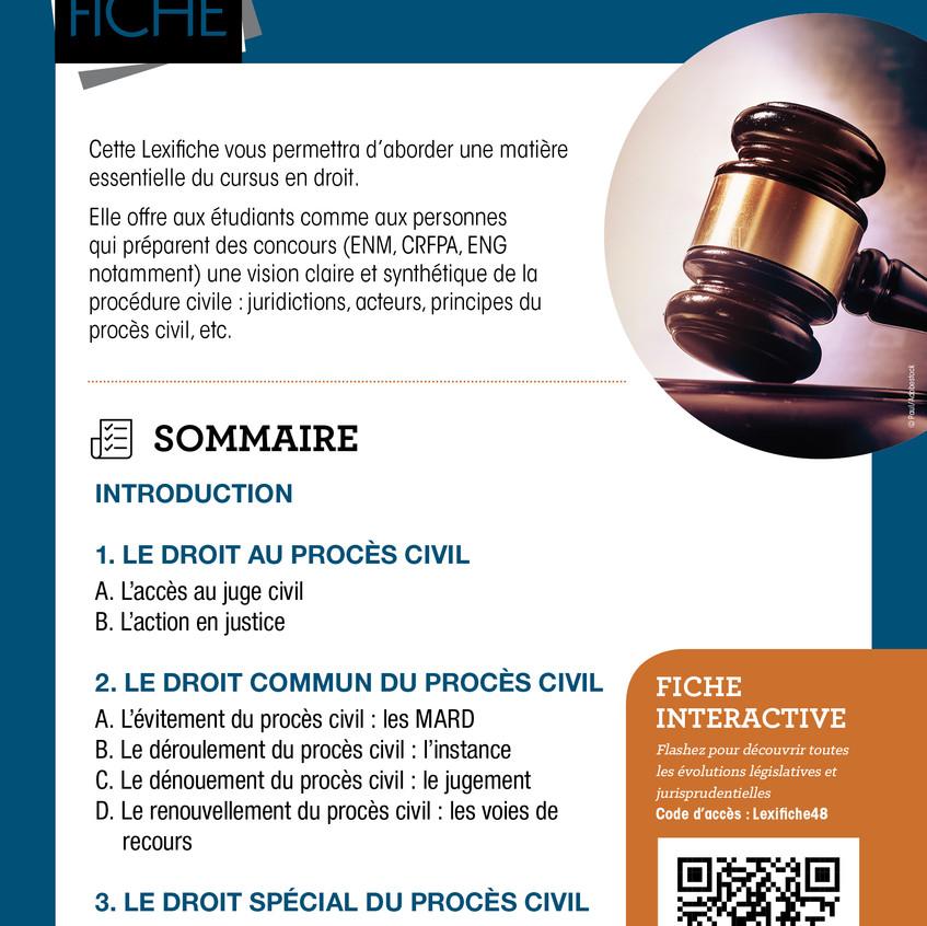 Couverture Lexifiche Procédure civile