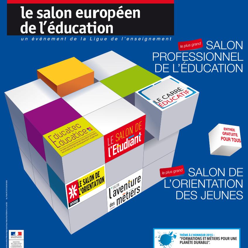 Affiche Salon européen de l'éducation 2016