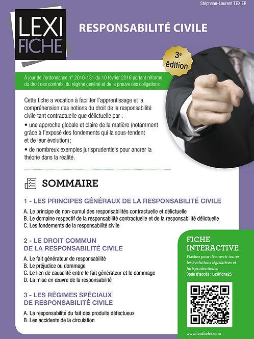 Lexifiche  -  Responsabilité civile