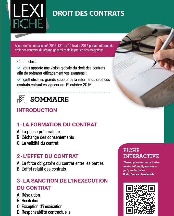 Lexifiche DROIT DES CONTRATS