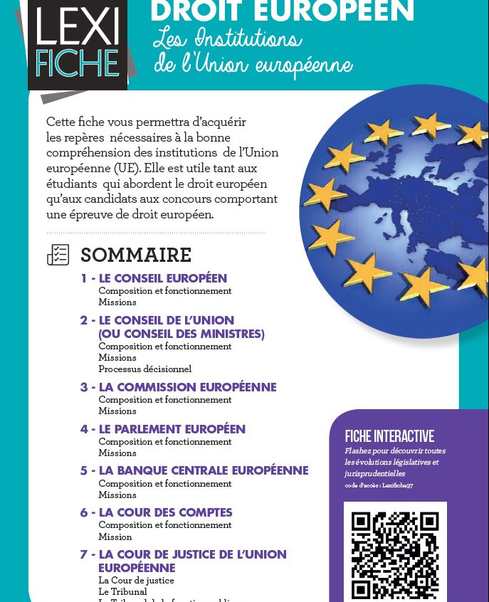 p 1 Lexifiche Droit europeen Institutions