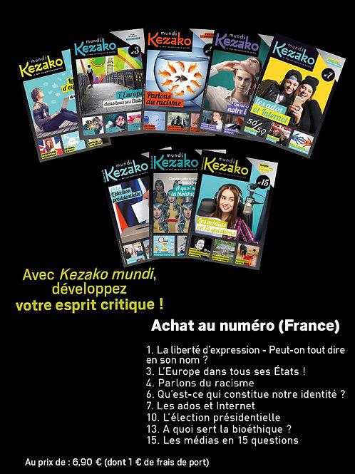 Achat anciens numéros (FRANCE métropolitaine)