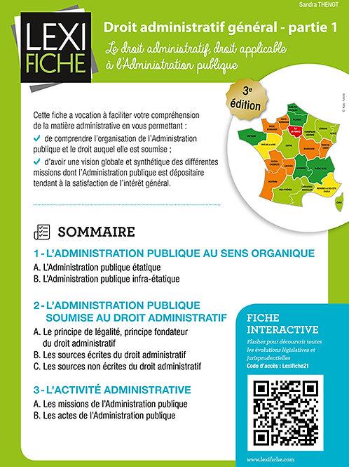 Lexifiche  -Droit administratif général partie 1