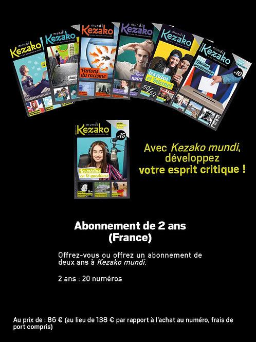 Abonnement 2 ans à Kezako mundi (FRANCE métropolitaine)
