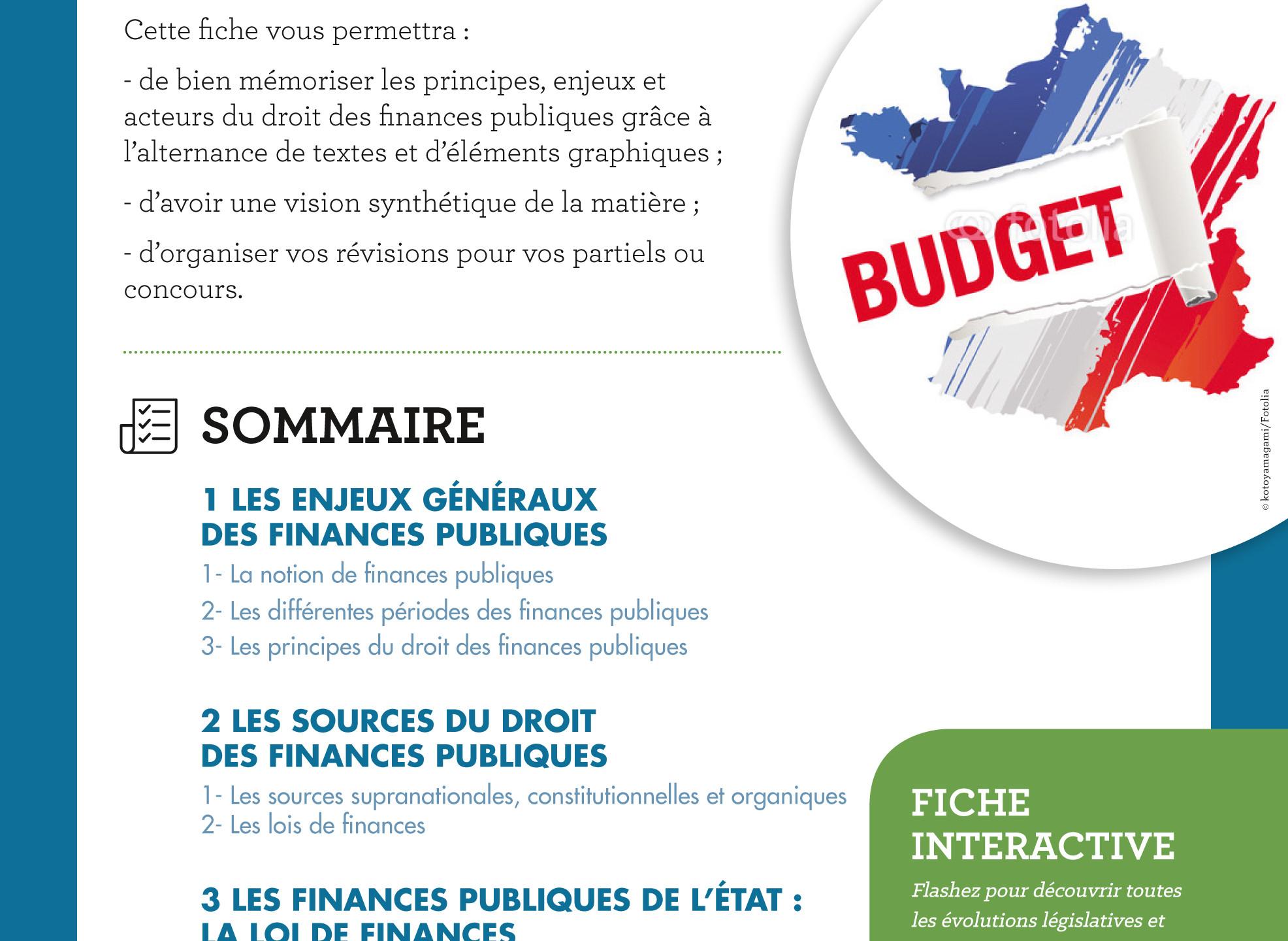 Lexifiche DROIT DES FINANCES PUBLIQUES 2016