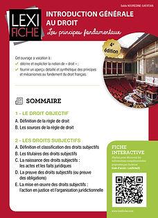 Couverture Lexifiche Introduction générale au droit