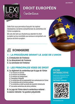 droit européen, contencieux