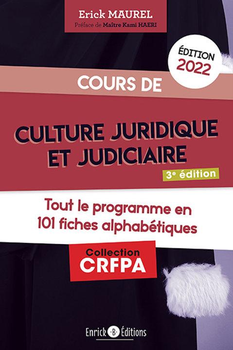 Cours de culture juridique et judiciaire 2022