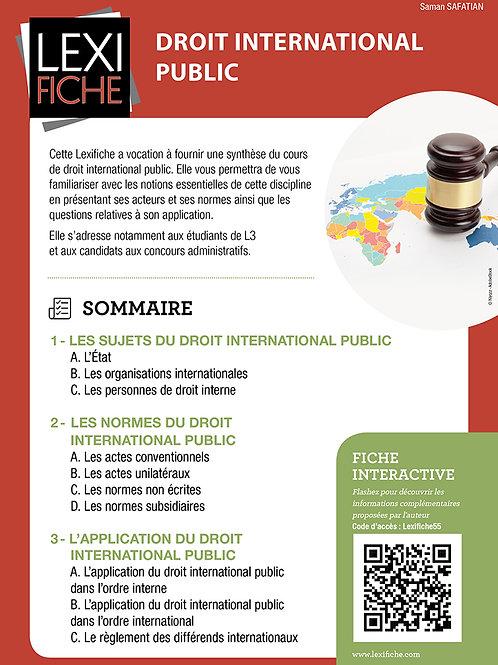 Lexifiches - Droit international public