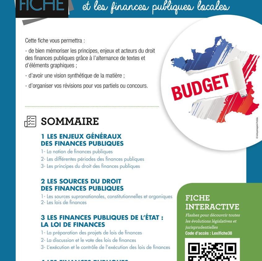 DROITS DES FINANCES PUBLIQUE