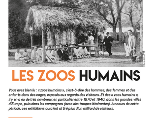 C'était hier... Les zoos humains