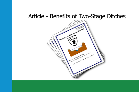 Benefits of Two-Stage Ditches