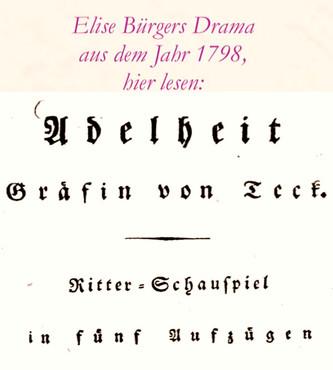 Elise Bürger Drama 1798 - hier klicken und lesen