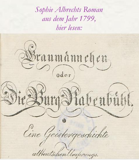 Sophie Albrechts Roman 1799 - hier klicken und lesen