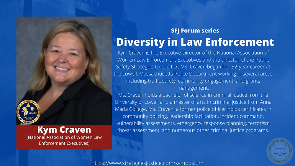 Picture of Kym Craven with the National Association of Women Law Enforcement Executives logo