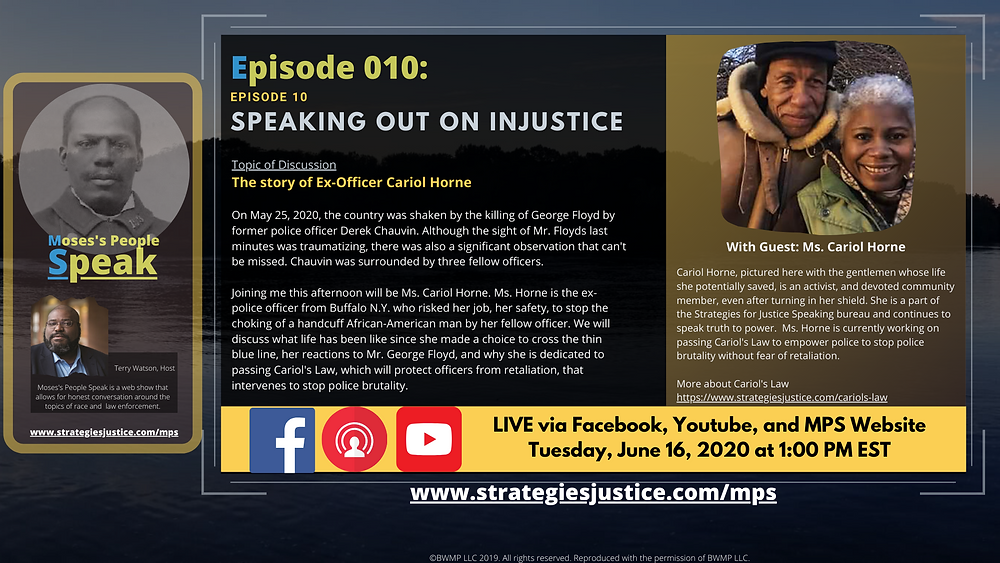 RSVP for Speaking out on injustice