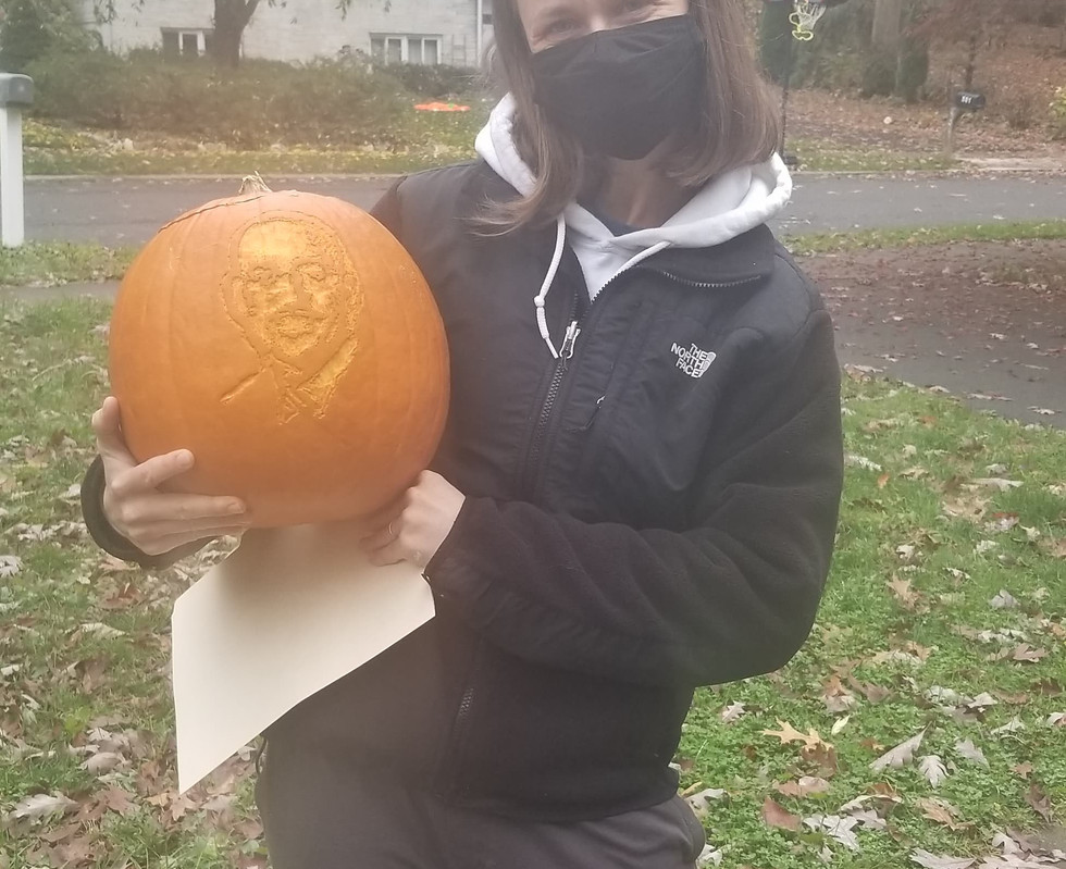 Carla picks up the James Franklin Pumpkin