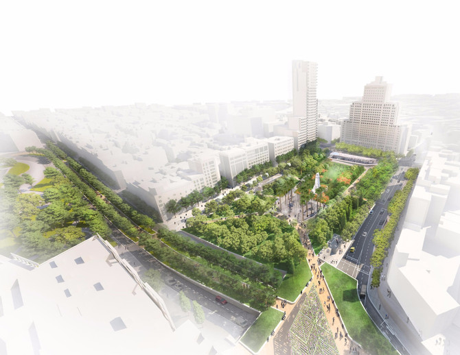 Pradera Urbana, our proposal for the Renewal of the Plaza de España in Madrid was the favourite of c