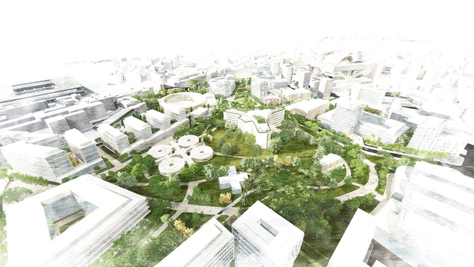 Juan Tur / WALK to transform the former City Hospital area of Oviedo into a new green  district for