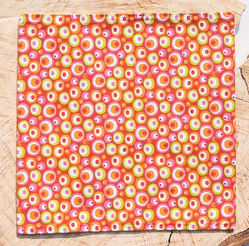 Pochette de costume réversible en coton - Cercles