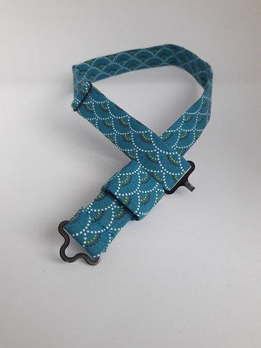 Tour de cou en coton pour nœud papillon en bois ou en plexiglass –Vagues