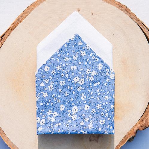 Pochette de costume réversible en coton - Fleuris
